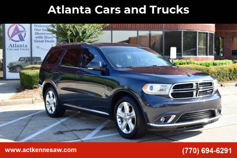 2014 Dodge Durango for sale at Atlanta Cars and Trucks in Kennesaw GA
