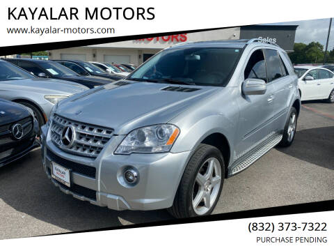 2009 Mercedes-Benz M-Class for sale at KAYALAR MOTORS in Houston TX