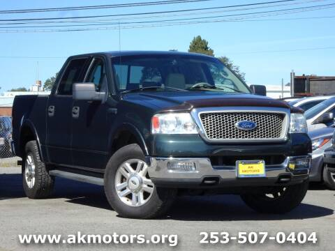 2004 Ford F-150 for sale at AK Motors in Tacoma WA