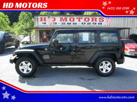 2015 Jeep Wrangler Unlimited for sale at HD MOTORS in Kingsport TN