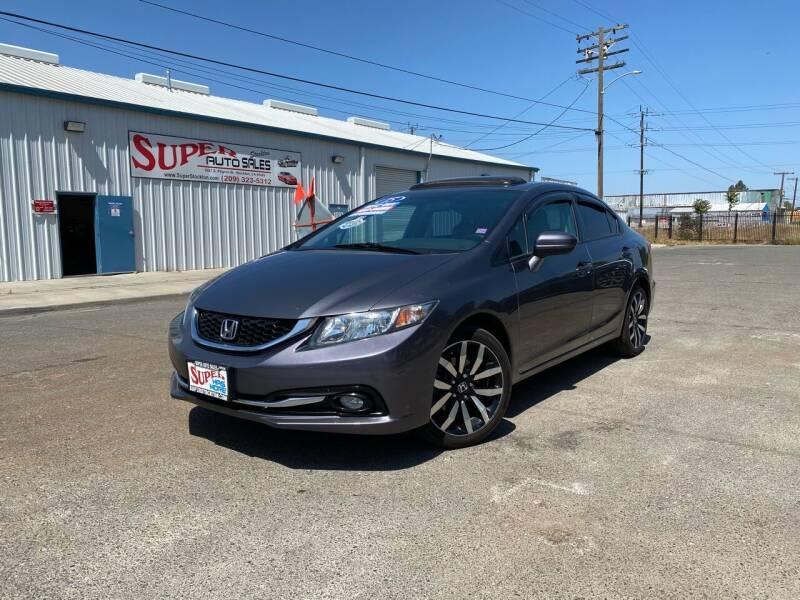 2015 Honda Civic for sale at SUPER AUTO SALES STOCKTON in Stockton CA