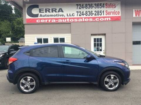 2017 Honda HR-V for sale at Cerra Automotive LLC in Greensburg PA