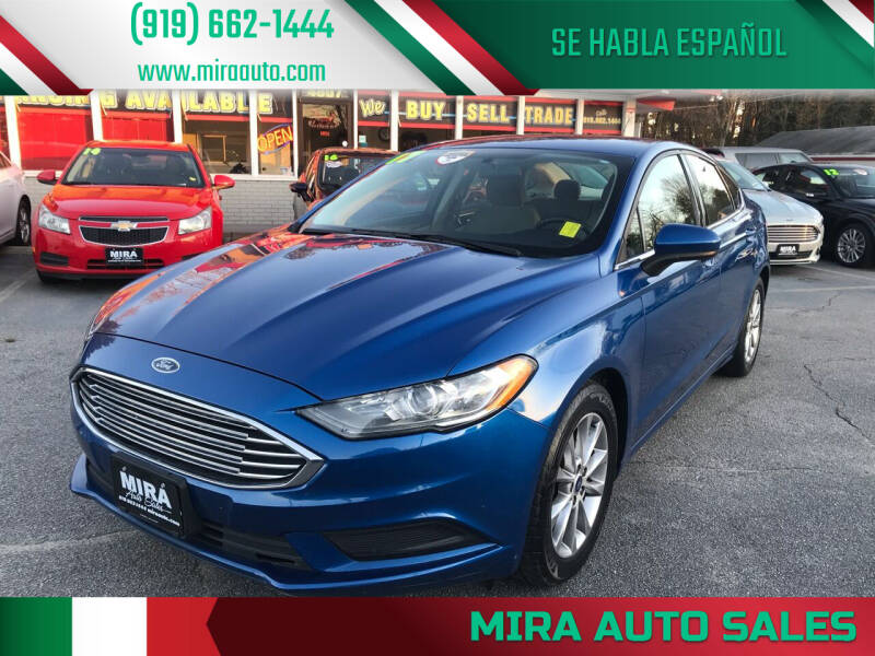 2017 Ford Fusion for sale at Mira Auto Sales in Raleigh NC