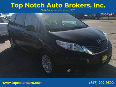 2014 Toyota Sienna for sale at Top Notch Auto Brokers, Inc. in Palatine IL
