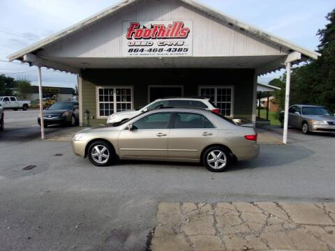 2005 Honda Accord for sale at Foothills Used Cars LLC in Campobello SC