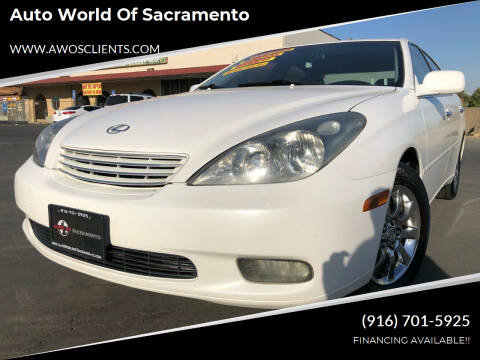2002 Lexus ES 300 for sale at Auto World of Sacramento Stockton Blvd in Sacramento CA