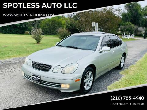 2001 Lexus GS 300 for sale at SPOTLESS AUTO LLC in San Antonio TX