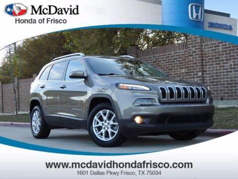 2018 Jeep Cherokee for sale at DAVID McDAVID HONDA OF IRVING in Irving TX