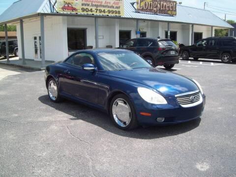 2003 Lexus SC 430 for sale at LONGSTREET AUTO in St Augustine FL