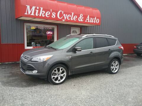 2015 Ford Escape for sale at MIKE'S CYCLE & AUTO in Connersville IN