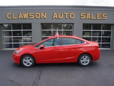 2017 Chevrolet Cruze for sale at Clawson Auto Sales in Clawson MI
