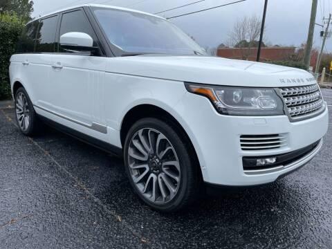 2017 Land Rover Range Rover for sale at Glamorous Motors in Woodstock GA