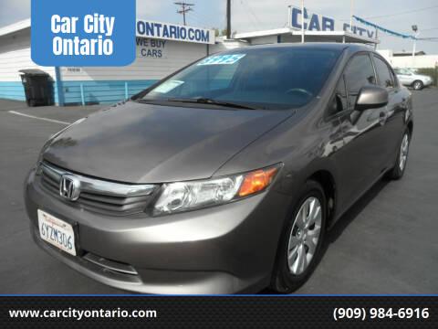 2012 Honda Civic for sale at Car City Ontario in Ontario CA