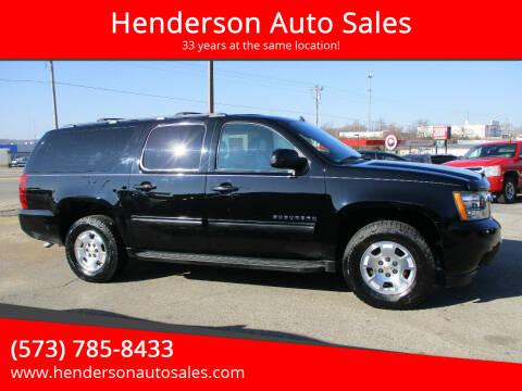 2013 Chevrolet Suburban for sale at Henderson Auto Sales in Poplar Bluff MO