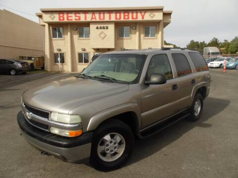 2003 Chevrolet Tahoe for sale at Best Auto Buy in Las Vegas NV