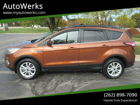 2017 Ford Escape for sale at AutoWerks in Sturtevant WI