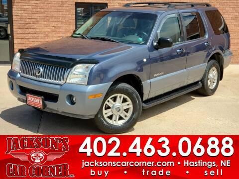 2002 Mercury Mountaineer for sale at Jacksons Car Corner Inc in Hastings NE