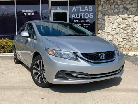 2013 Honda Civic for sale at ATLAS AUTOS in Marietta GA