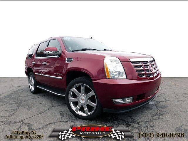 2007 Cadillac Escalade for sale at PRIME MOTORS LLC in Arlington VA
