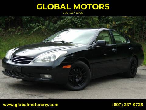 2002 Lexus ES 300 for sale at GLOBAL MOTORS in Binghamton NY