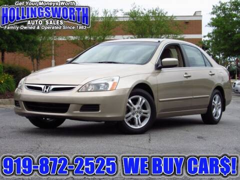 2006 Honda Accord for sale at Hollingsworth Auto Sales in Raleigh NC