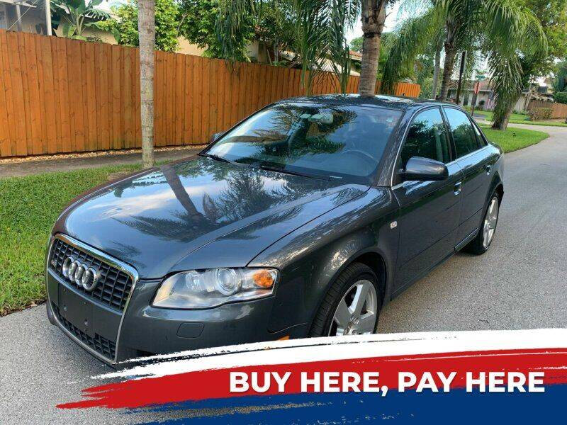 2008 Audi A4 for sale at FINANCIAL CLAIMS & SERVICING INC in Hollywood FL