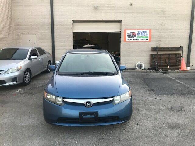 2007 Honda Civic for sale at Reliable Auto Sales in Plano TX