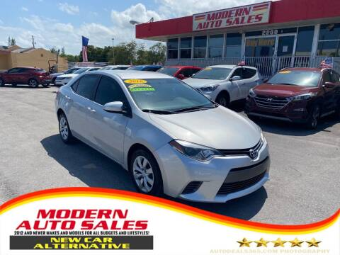 2016 Toyota Corolla for sale at Modern Auto Sales in Hollywood FL