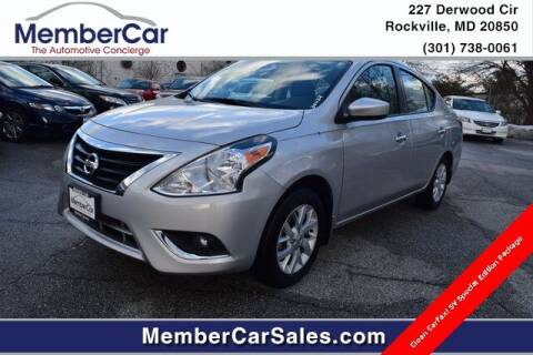 2019 Nissan Versa for sale at MemberCar in Rockville MD