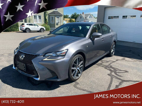 2016 Lexus GS 350 for sale at James Motors Inc. in East Longmeadow MA