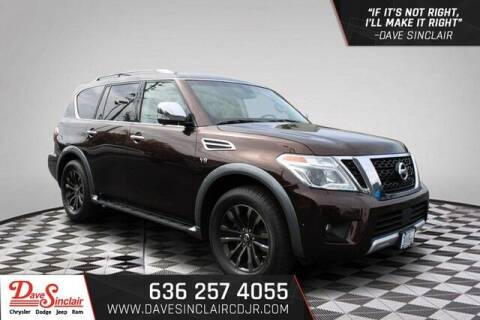 2017 Nissan Armada for sale at Dave Sinclair Chrysler Dodge Jeep Ram in Pacific MO