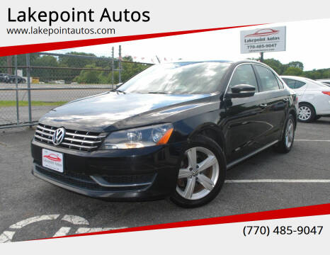 2013 Volkswagen Passat for sale at Lakepoint Autos in Cartersville GA