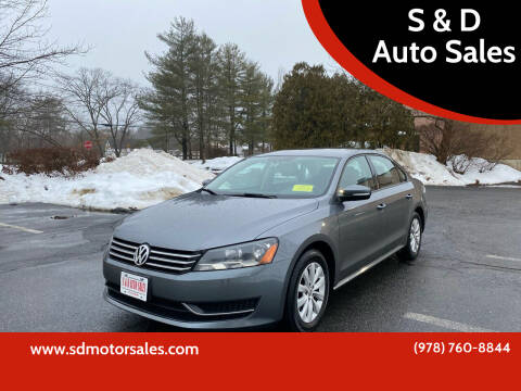 2013 Volkswagen Passat for sale at S & D Auto Sales in Maynard MA
