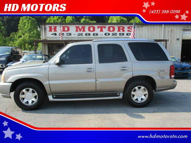 2002 Cadillac Escalade for sale at HD MOTORS in Kingsport TN