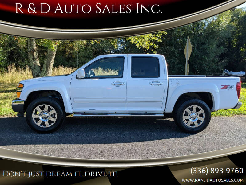 2012 Chevrolet Colorado for sale at R & D Auto Sales Inc. in Lexington NC