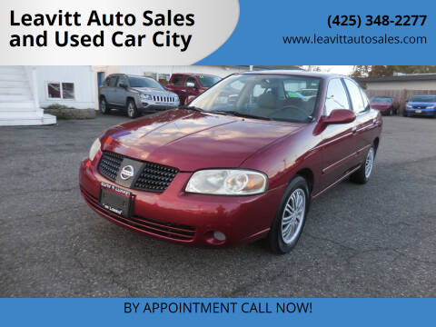 2005 Nissan Sentra for sale at Leavitt Auto Sales and Used Car City in Everett WA