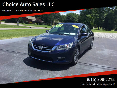 2014 Honda Accord for sale at Choice Auto Sales LLC - Cash Inventory in White House TN