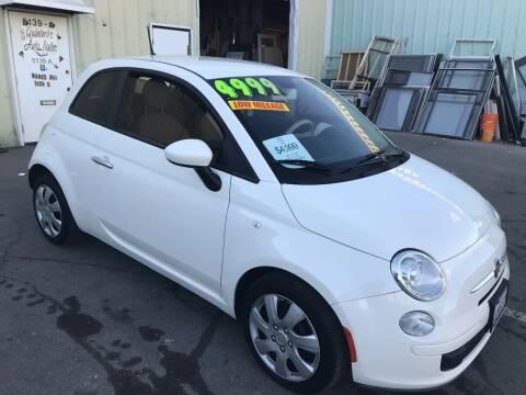 2012 FIAT 500 for sale at Quintero's Auto Sales in Vacaville CA
