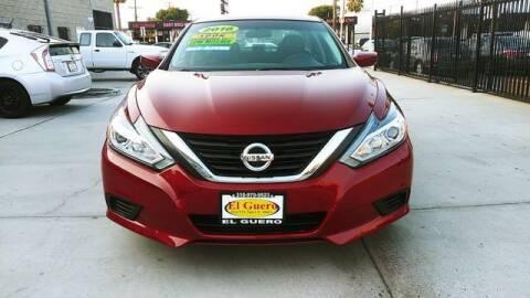2016 Nissan Altima for sale at El Guero Auto Sale in Hawthorne CA