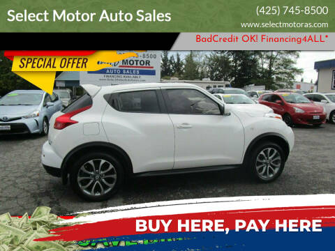 2013 Nissan JUKE for sale at Select Motor Auto Sales in Lynnwood WA
