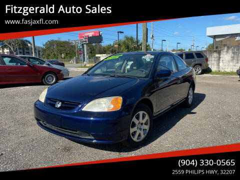 2003 Honda Civic for sale at Fitzgerald Auto Sales in Jacksonville FL
