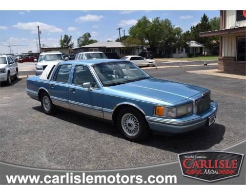 1993 Lincoln Town Car for sale at Carlisle Motors in Lubbock TX