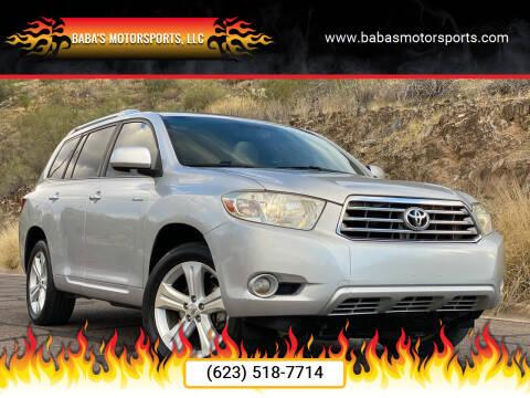 2010 Toyota Highlander for sale at Baba's Motorsports, LLC in Phoenix AZ