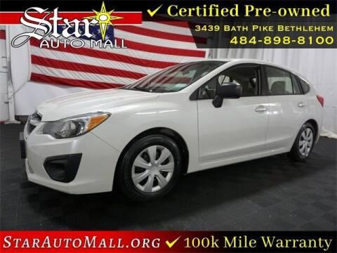 2014 Subaru Impreza for sale at STAR AUTO MALL 512 in Bethlehem PA