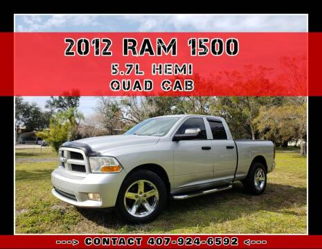 2012 RAM Ram Pickup 1500 for sale at AFFORDABLE ONE LLC in Orlando FL