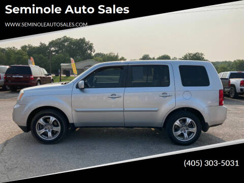 2013 Honda Pilot for sale at Seminole Auto Sales in Seminole OK