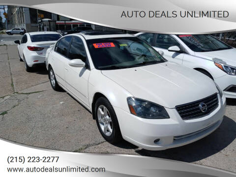 2005 Nissan Altima for sale at AUTO DEALS UNLIMITED in Philadelphia PA
