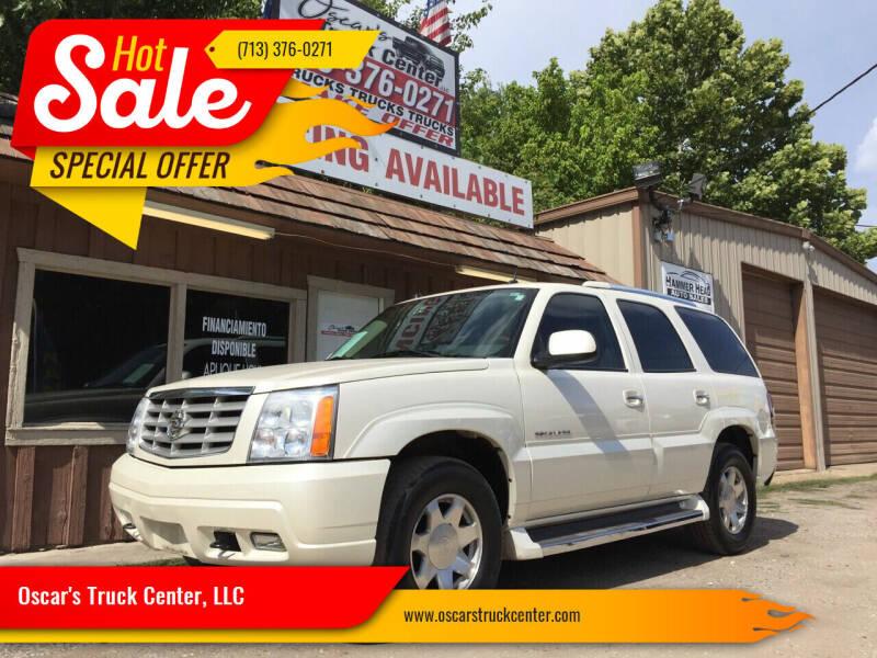2005 Cadillac Escalade for sale at Oscar's Truck Center, LLC in Houston TX