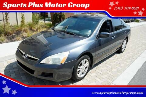 2007 Honda Accord for sale at Sports Plus Motor Group LLC in Sunnyvale CA