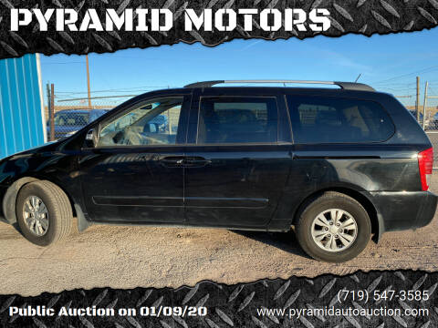 2012 Kia Sedona for sale at PYRAMID MOTORS - Pueblo Lot in Pueblo CO